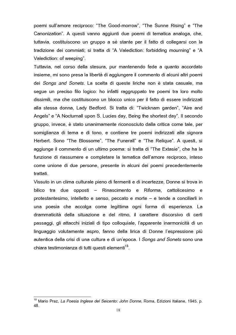 Anteprima della tesi: La poetica di John Donne (1572-1631) nei Songs and Sonets, Pagina 15