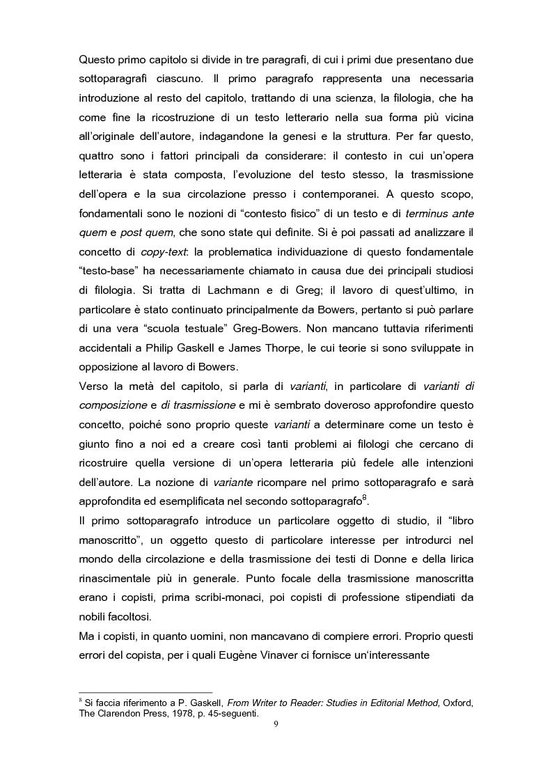 Anteprima della tesi: La poetica di John Donne (1572-1631) nei Songs and Sonets, Pagina 6