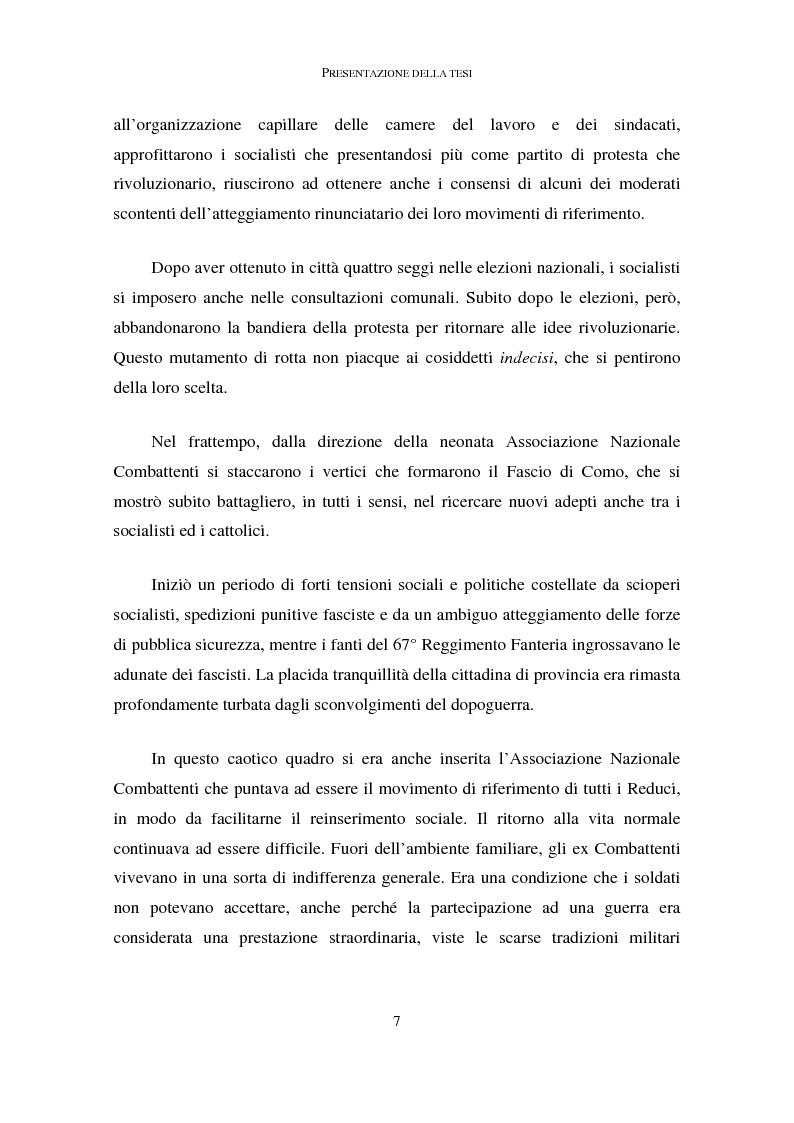 Anteprima della tesi: La memoria dei caduti nella Grande Guerra nella città di Como (1919-1939), Pagina 3
