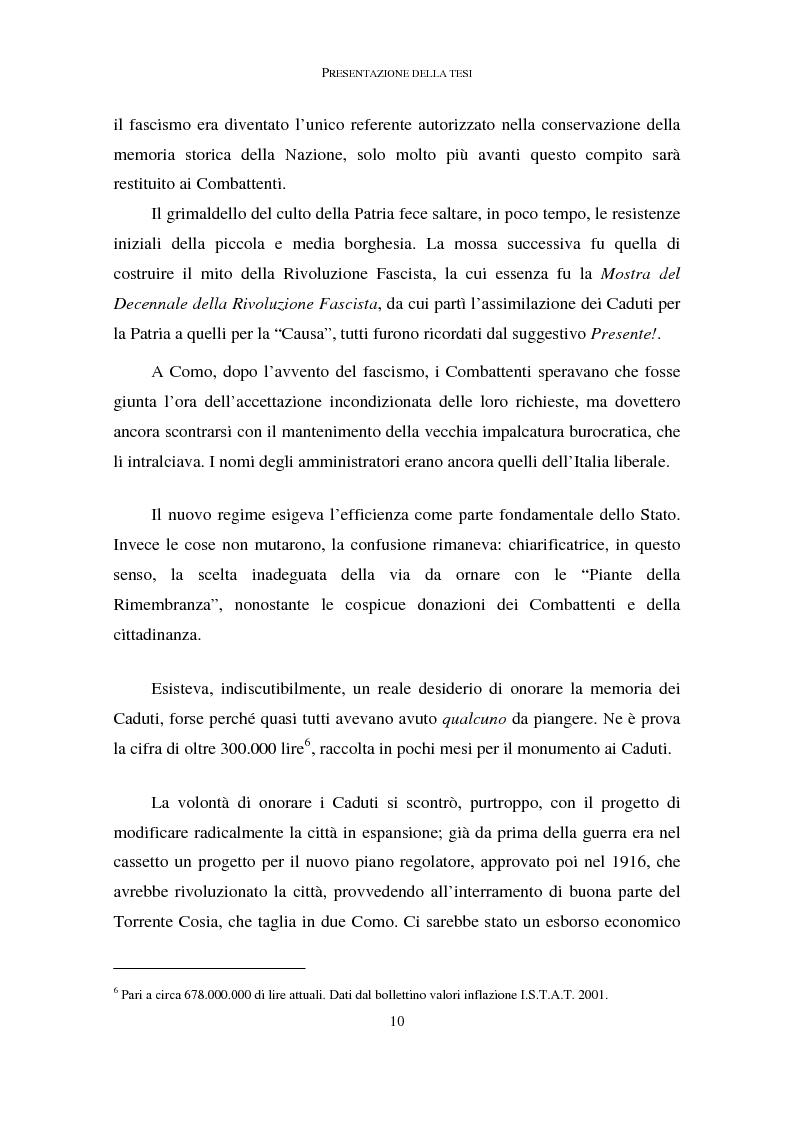 Anteprima della tesi: La memoria dei caduti nella Grande Guerra nella città di Como (1919-1939), Pagina 6