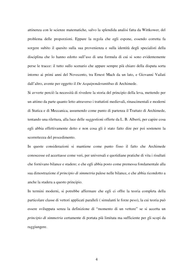 Anteprima della tesi: Tracce di statica archimedea in L. B. Alberti, Pagina 3