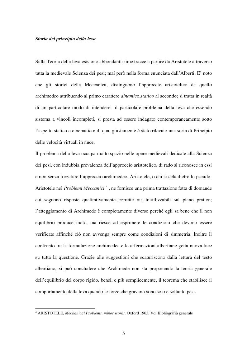 Anteprima della tesi: Tracce di statica archimedea in L. B. Alberti, Pagina 4