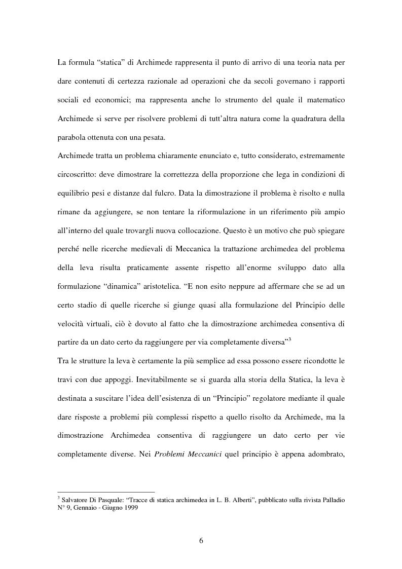 Anteprima della tesi: Tracce di statica archimedea in L. B. Alberti, Pagina 5