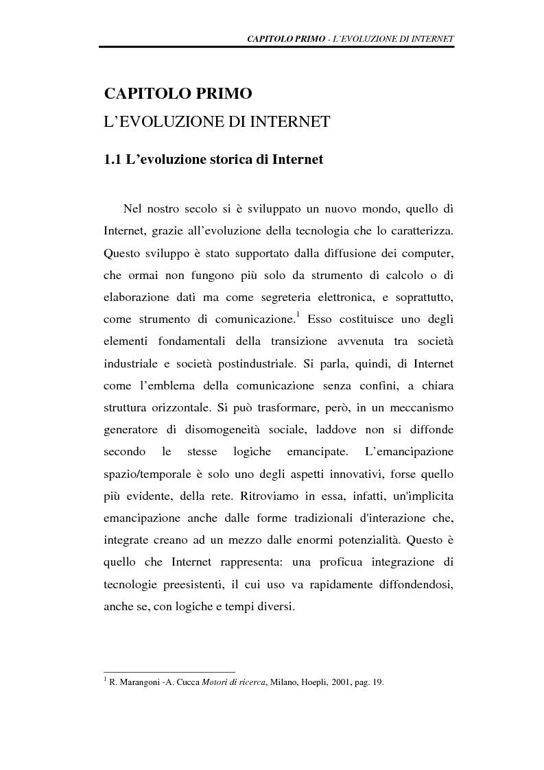 Anteprima della tesi: I modelli di business nei motori di ricerca, Pagina 4