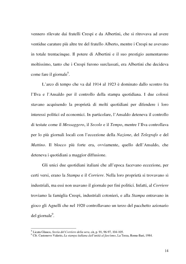 Anteprima della tesi: Il crack Rizzoli nelle cronache e nei commenti del Corriere della Sera, Pagina 12
