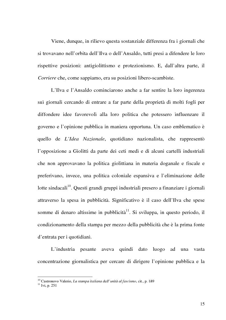 Anteprima della tesi: Il crack Rizzoli nelle cronache e nei commenti del Corriere della Sera, Pagina 13