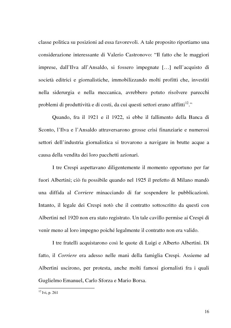 Anteprima della tesi: Il crack Rizzoli nelle cronache e nei commenti del Corriere della Sera, Pagina 14