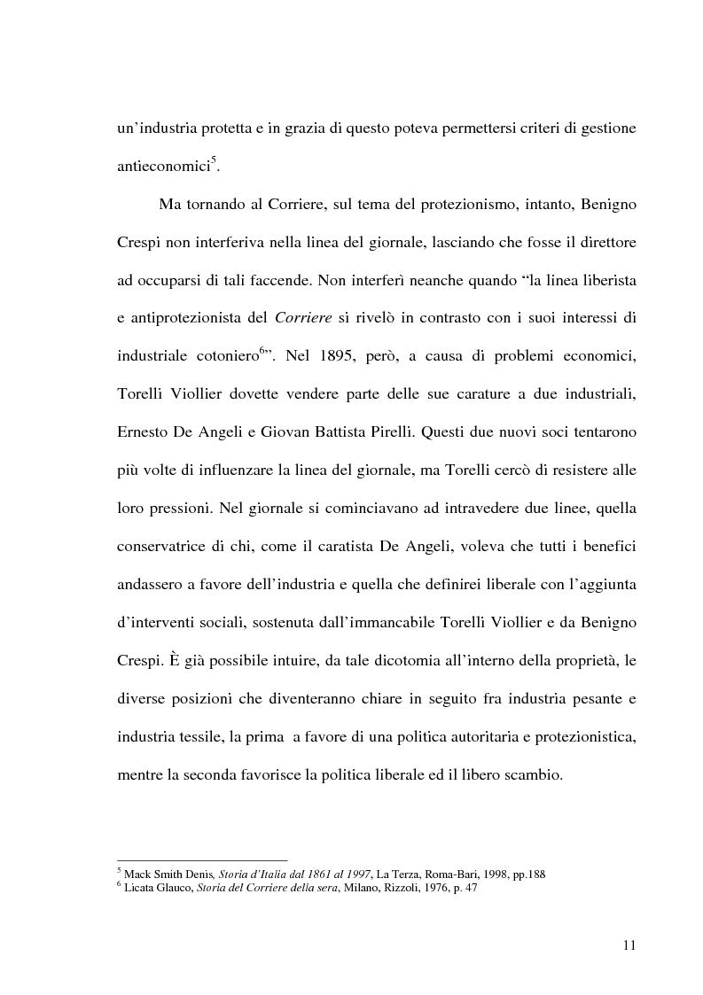 Anteprima della tesi: Il crack Rizzoli nelle cronache e nei commenti del Corriere della Sera, Pagina 9
