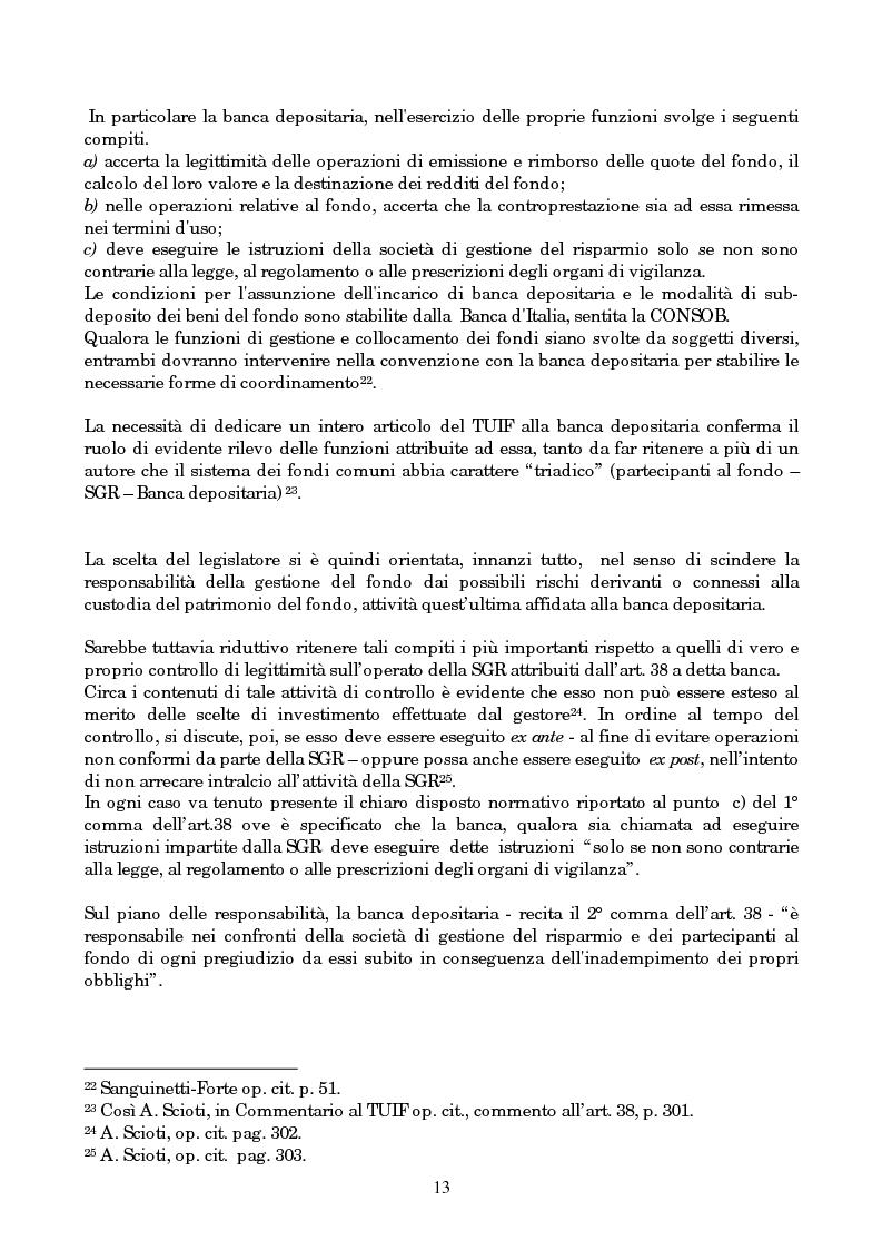 Anteprima della tesi: Linee evolutive del mercato finanziario italiano: fondi comuni di investimento, fondi pensione e piani pensionistici individuali. Regolamentazione e controlli, Pagina 10