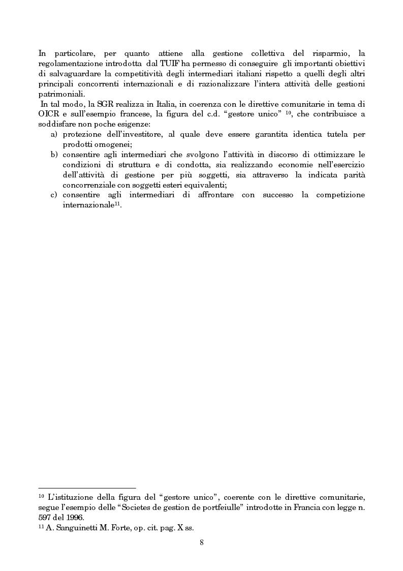 Anteprima della tesi: Linee evolutive del mercato finanziario italiano: fondi comuni di investimento, fondi pensione e piani pensionistici individuali. Regolamentazione e controlli, Pagina 5