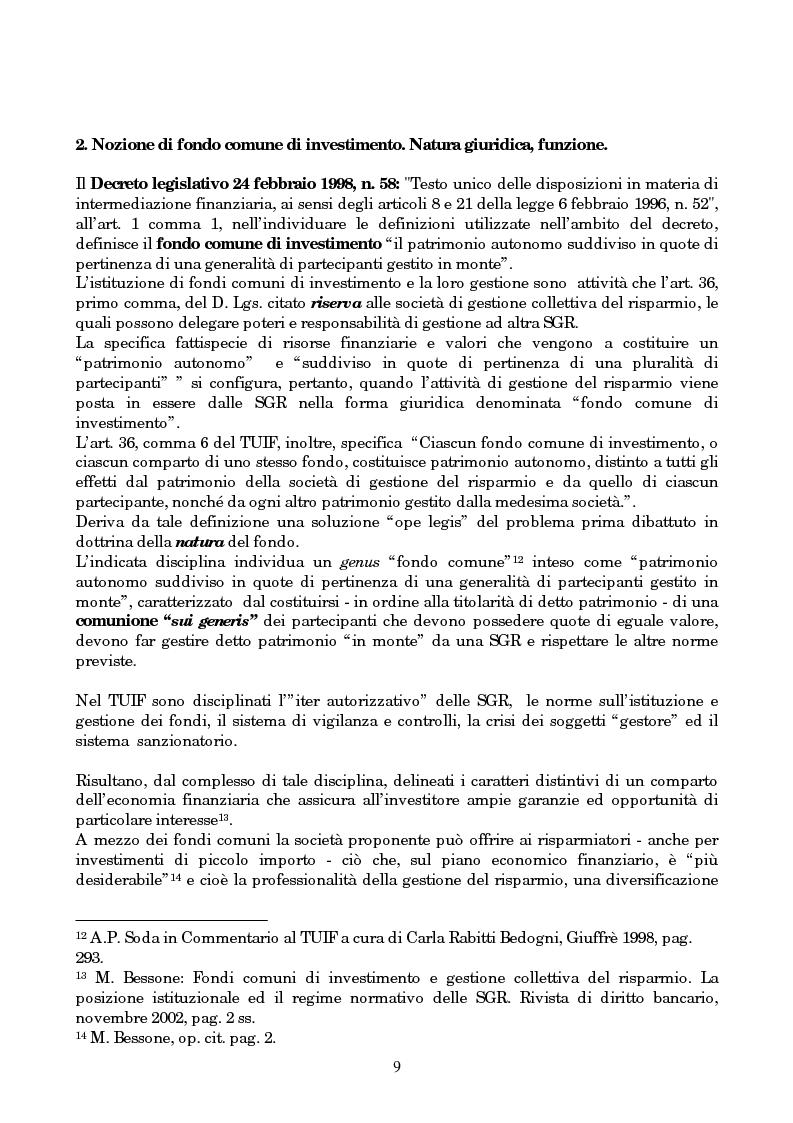 Anteprima della tesi: Linee evolutive del mercato finanziario italiano: fondi comuni di investimento, fondi pensione e piani pensionistici individuali. Regolamentazione e controlli, Pagina 6