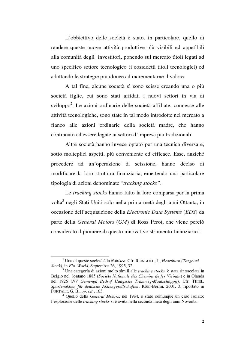 Anteprima della tesi: Azioni correlate e tracking stocks, Pagina 2