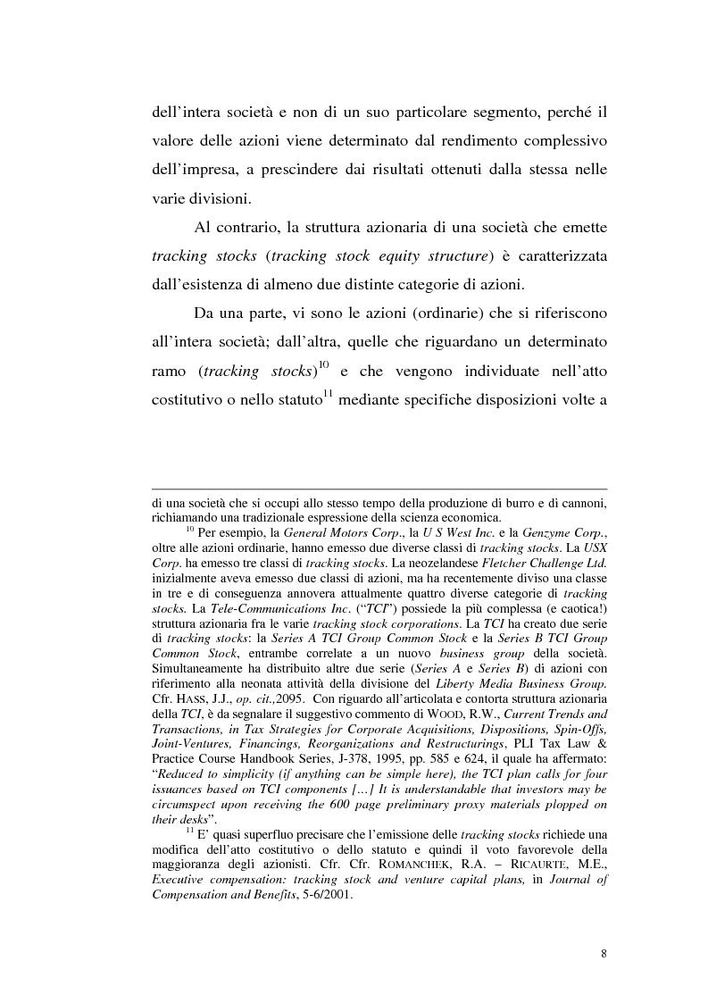 Anteprima della tesi: Azioni correlate e tracking stocks, Pagina 8
