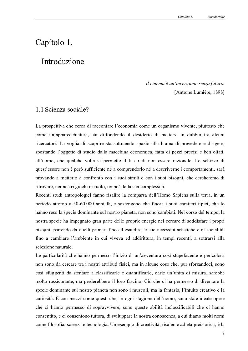 Anteprima della tesi: Realismo nel modello della concorrenza, un'esplorazione con Swarm e JAS, Pagina 1