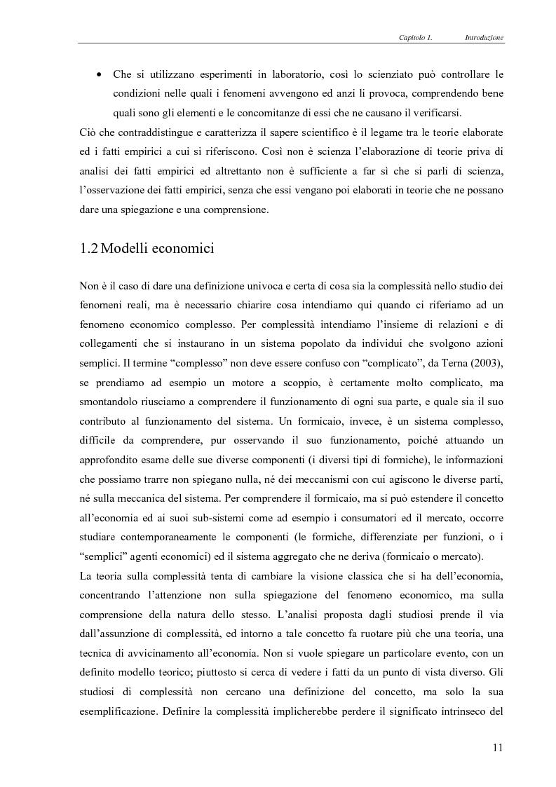 Anteprima della tesi: Realismo nel modello della concorrenza, un'esplorazione con Swarm e JAS, Pagina 5