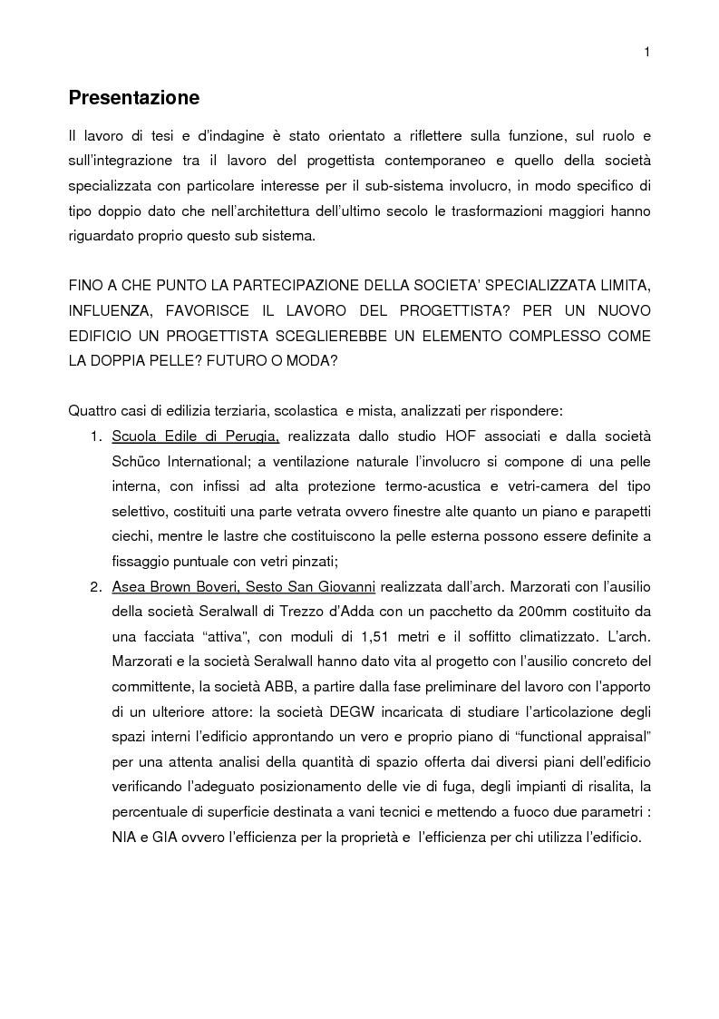 Anteprima della tesi: La pelle su misura: cultura architettonica e d'impresa, progettisti e scenari contemporanei, Pagina 1