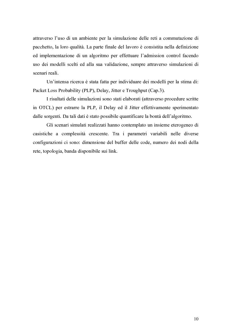 Anteprima della tesi: Strategie per il controllo di ammissione in reti a servizi differenziati, Pagina 4