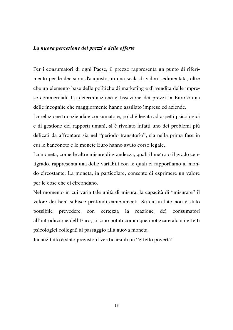 Anteprima della tesi: Il passaggio all'euro tra percezione e realtà, Pagina 10