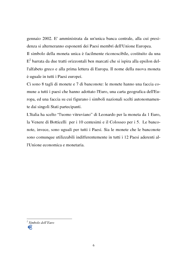 Anteprima della tesi: Il passaggio all'euro tra percezione e realtà, Pagina 3