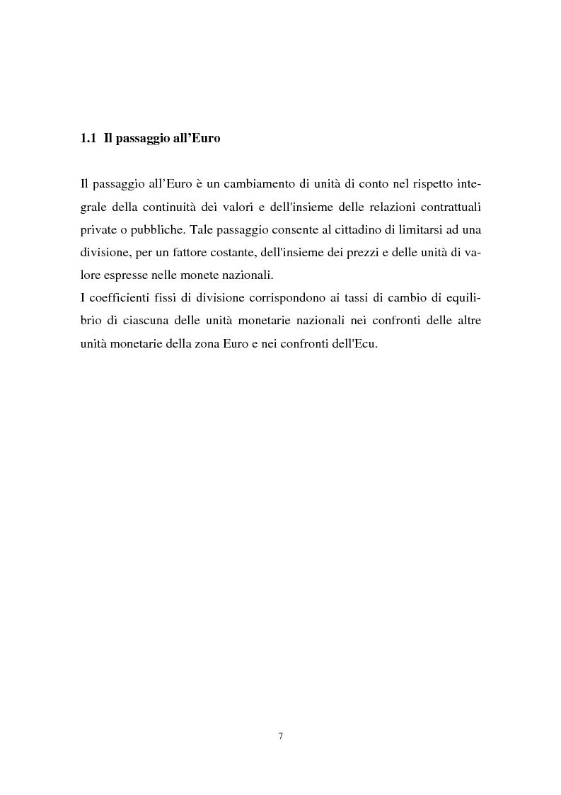 Anteprima della tesi: Il passaggio all'euro tra percezione e realtà, Pagina 4