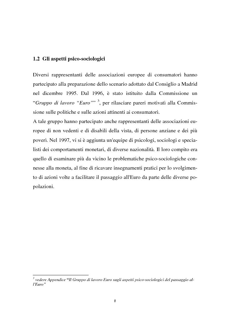Anteprima della tesi: Il passaggio all'euro tra percezione e realtà, Pagina 5