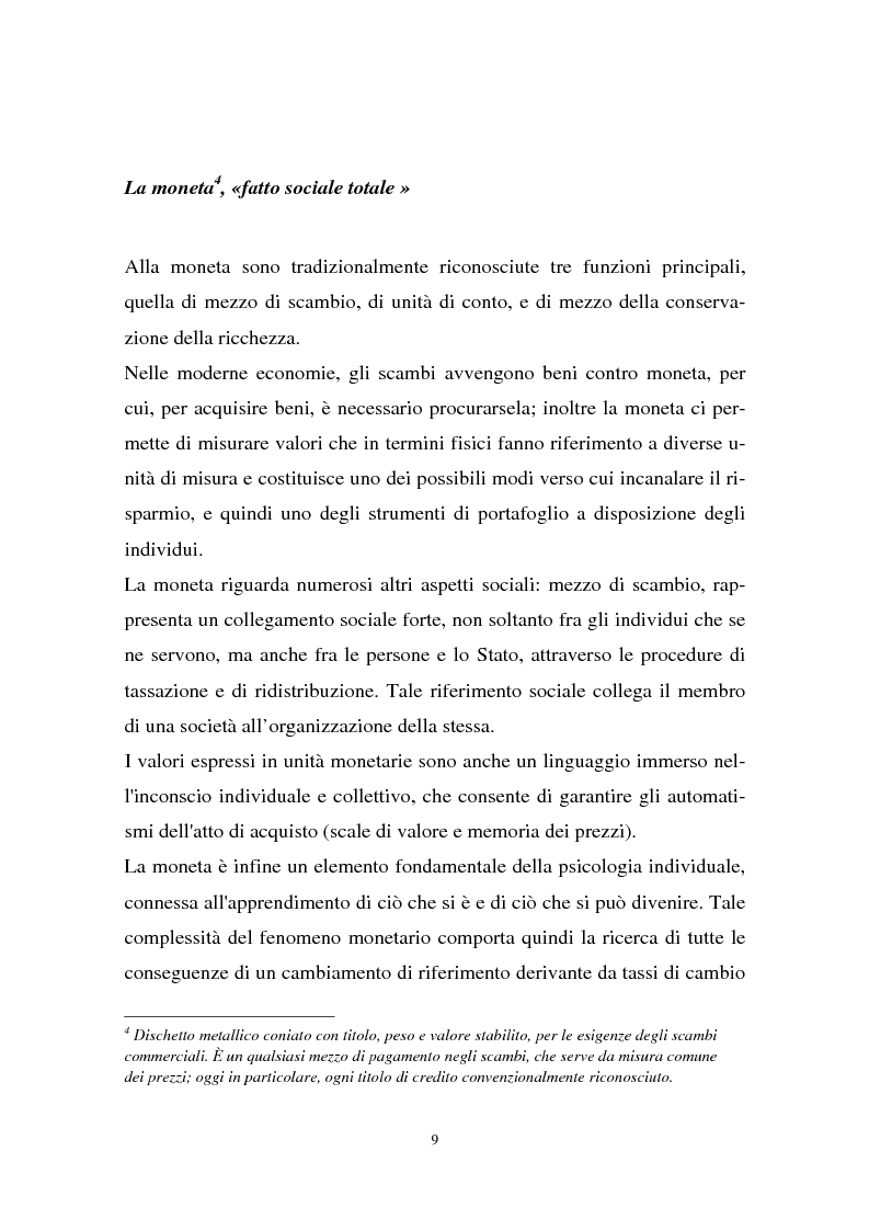 Anteprima della tesi: Il passaggio all'euro tra percezione e realtà, Pagina 6