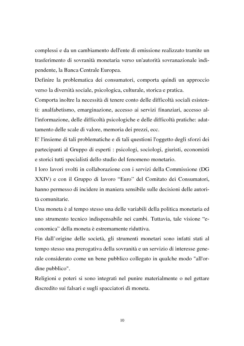Anteprima della tesi: Il passaggio all'euro tra percezione e realtà, Pagina 7