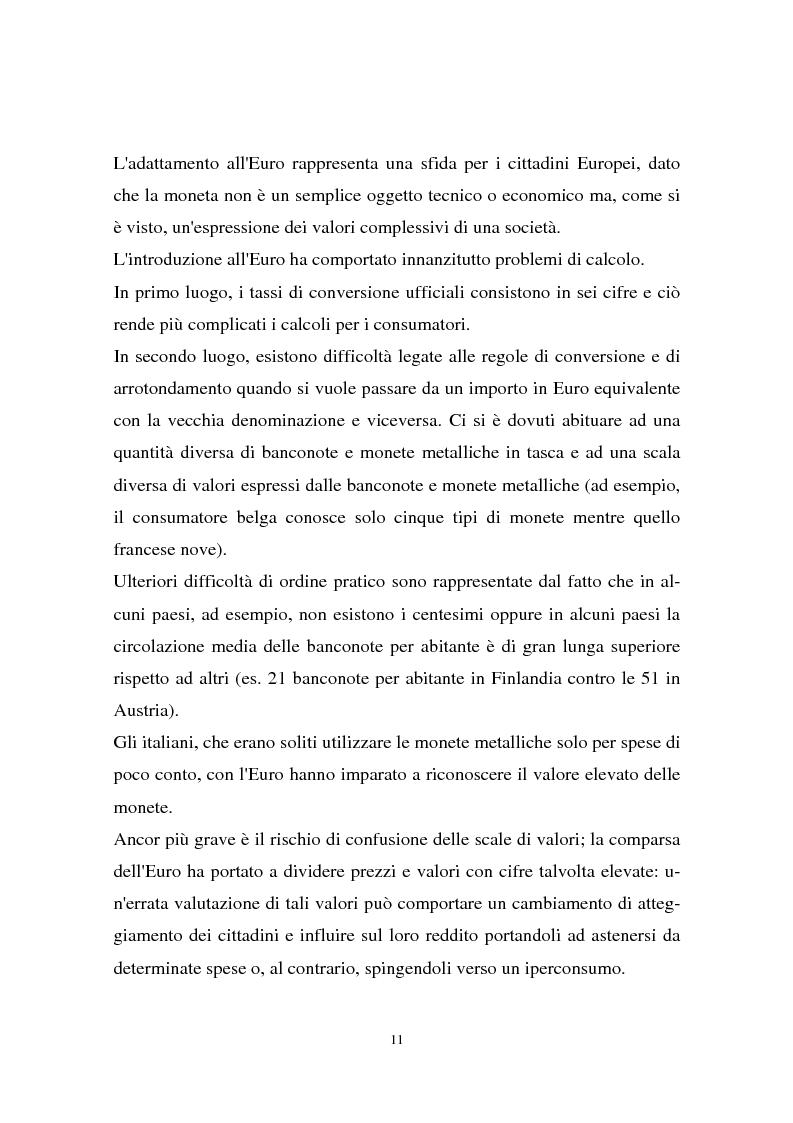 Anteprima della tesi: Il passaggio all'euro tra percezione e realtà, Pagina 8