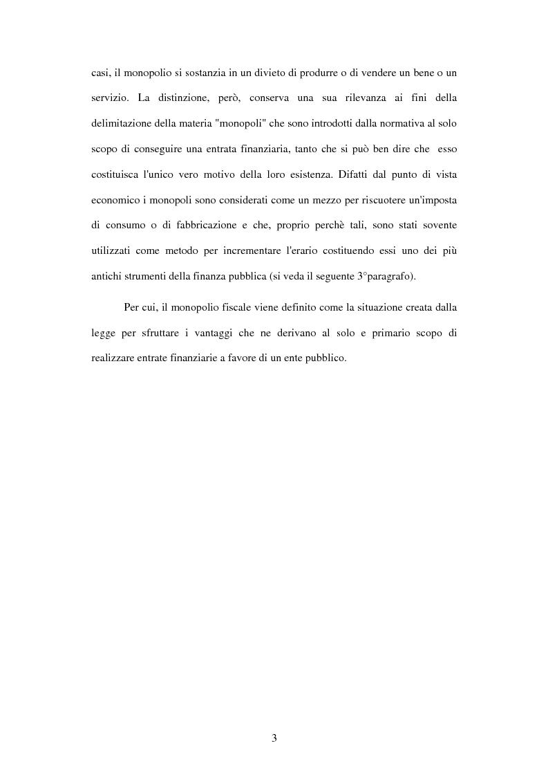 Anteprima della tesi: I monopoli fiscali, Pagina 2