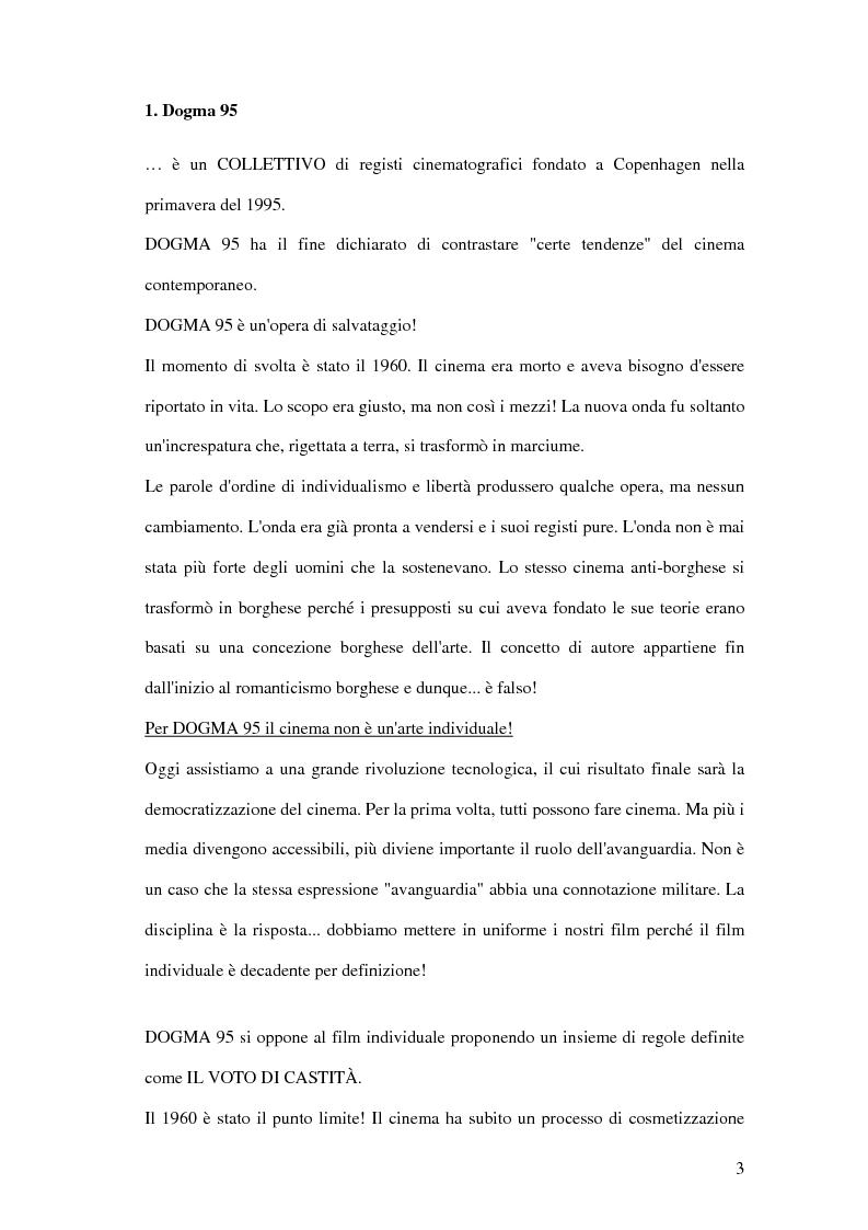 Anteprima della tesi: Dogma 95, Pagina 1