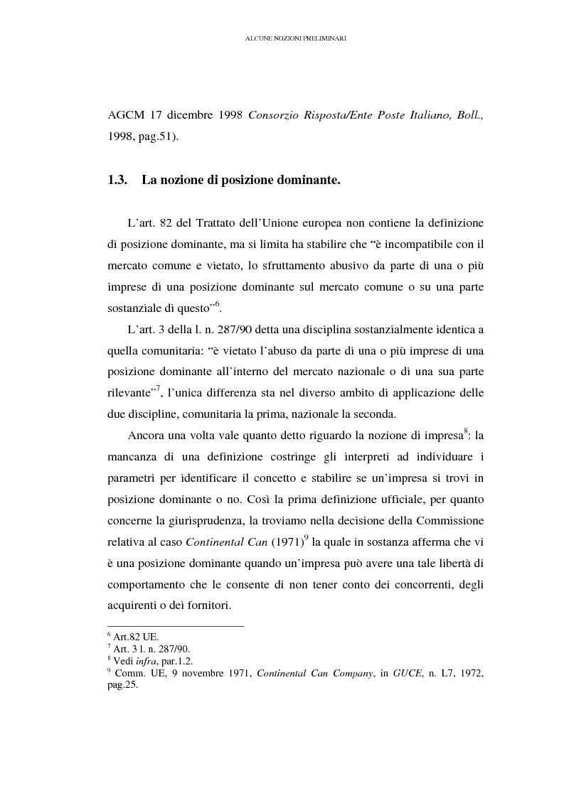 Anteprima della tesi: I prezzi predatori e la concorrenza, Pagina 4