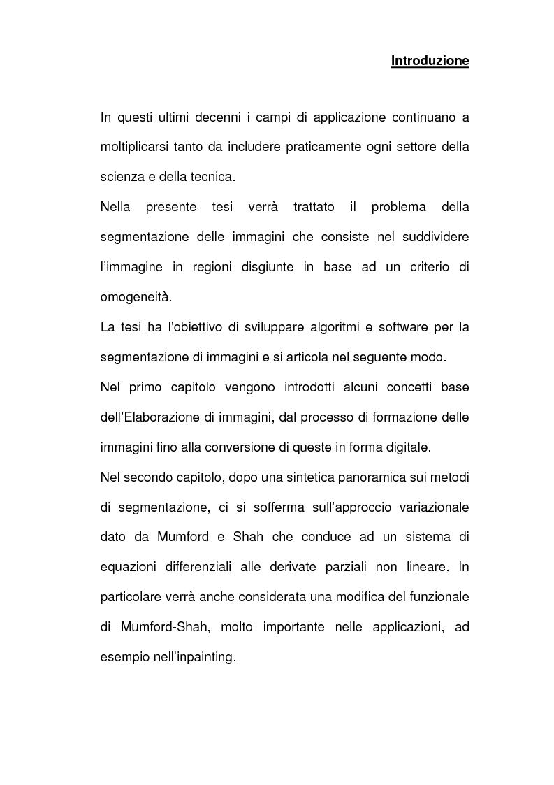 Anteprima della tesi: Analisi e implementazione di algoritmi per la segmentazione di immagini, Pagina 2