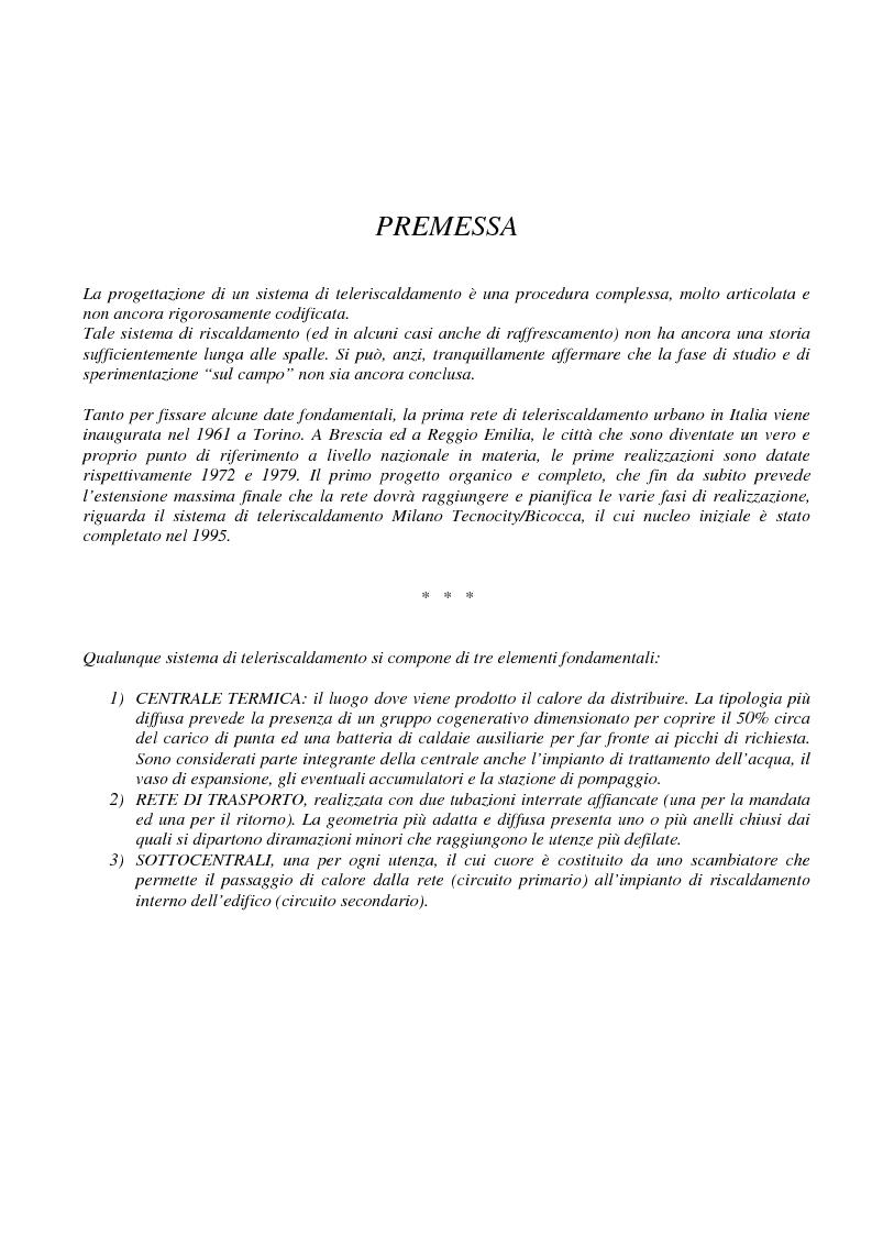 Anteprima della tesi: Teleriscaldamento: aspetti progettuali, Pagina 1