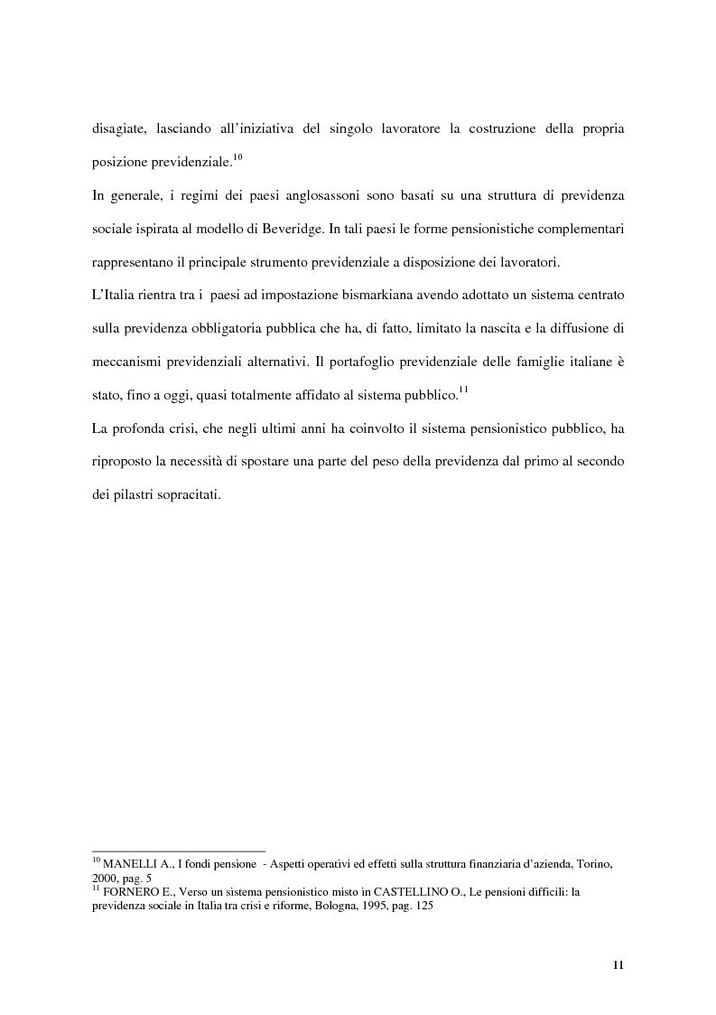 Anteprima della tesi: Previdenza complementare e trattamento di fine rapporto, Pagina 11