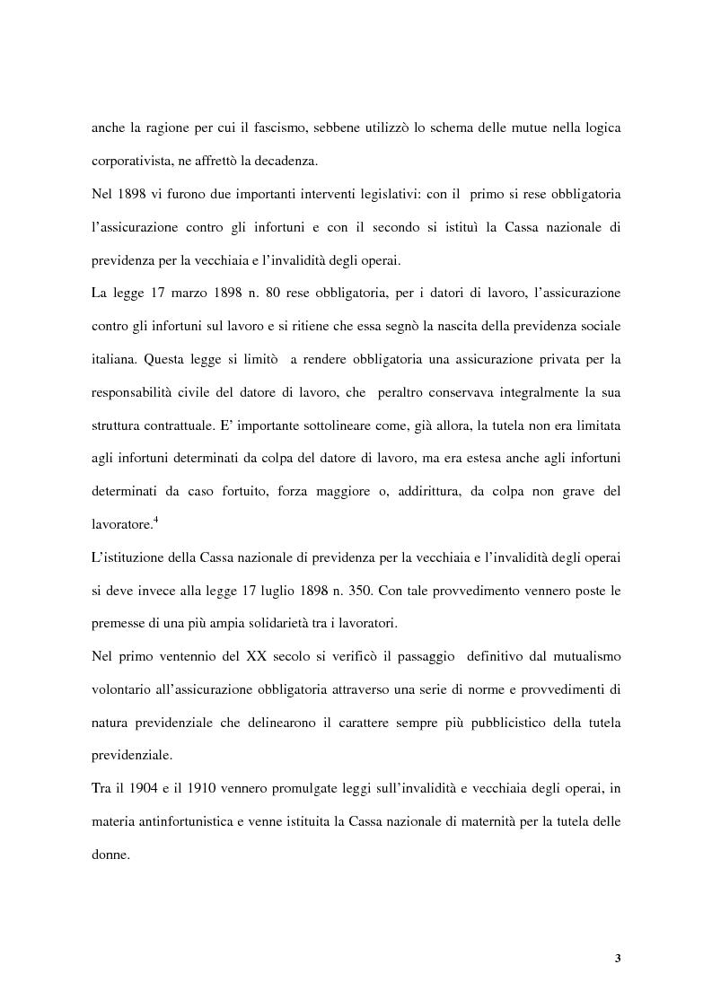 Anteprima della tesi: Previdenza complementare e trattamento di fine rapporto, Pagina 3