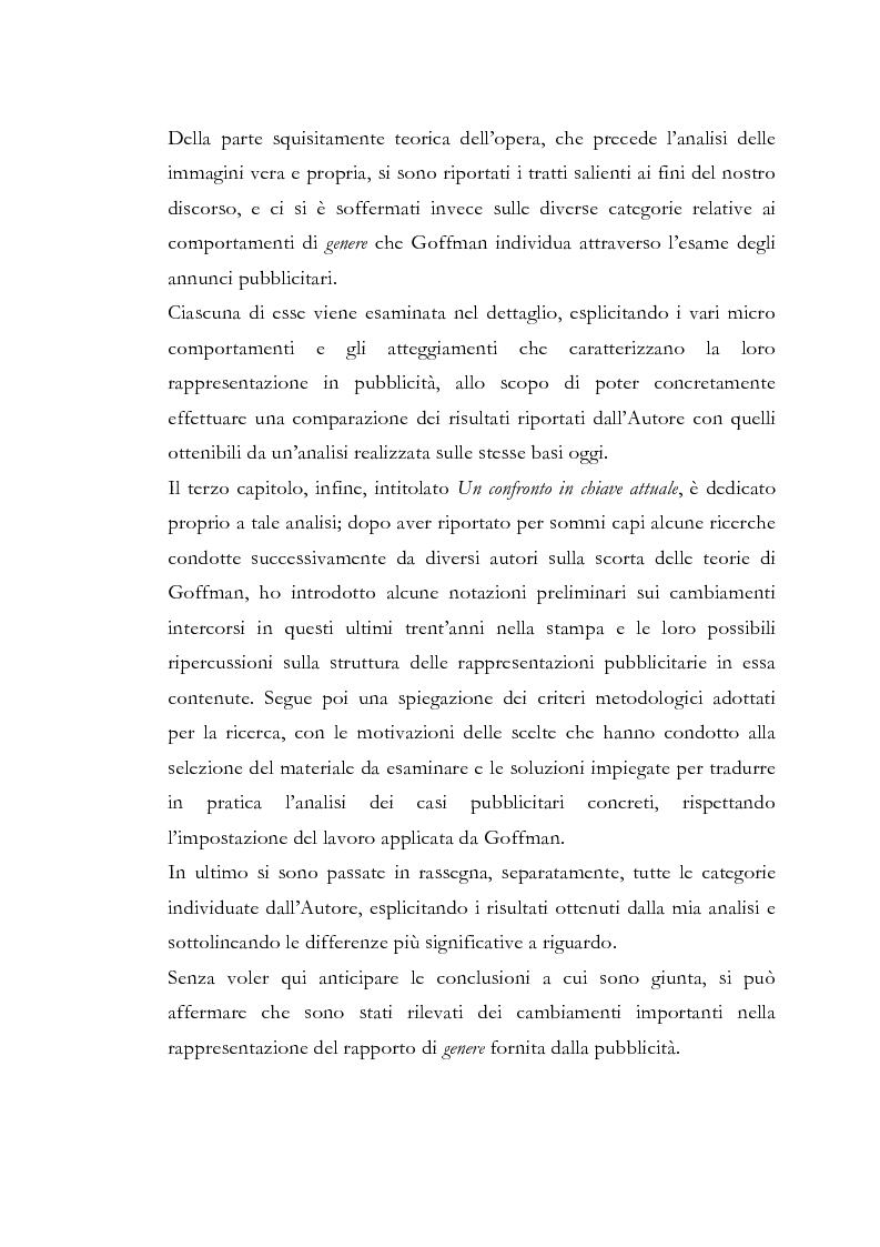 Anteprima della tesi: Gender Advertisements, Erving Goffman, 1979: un confronto in chiave attuale, Pagina 3