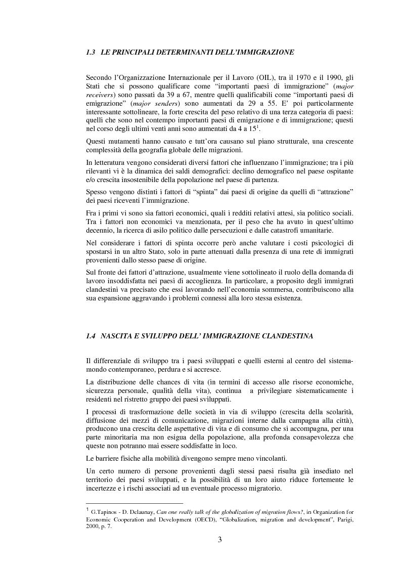 Anteprima della tesi: Le politiche di prevenzione, controllo e contrasto dell'immigrazione clandestina, Pagina 3