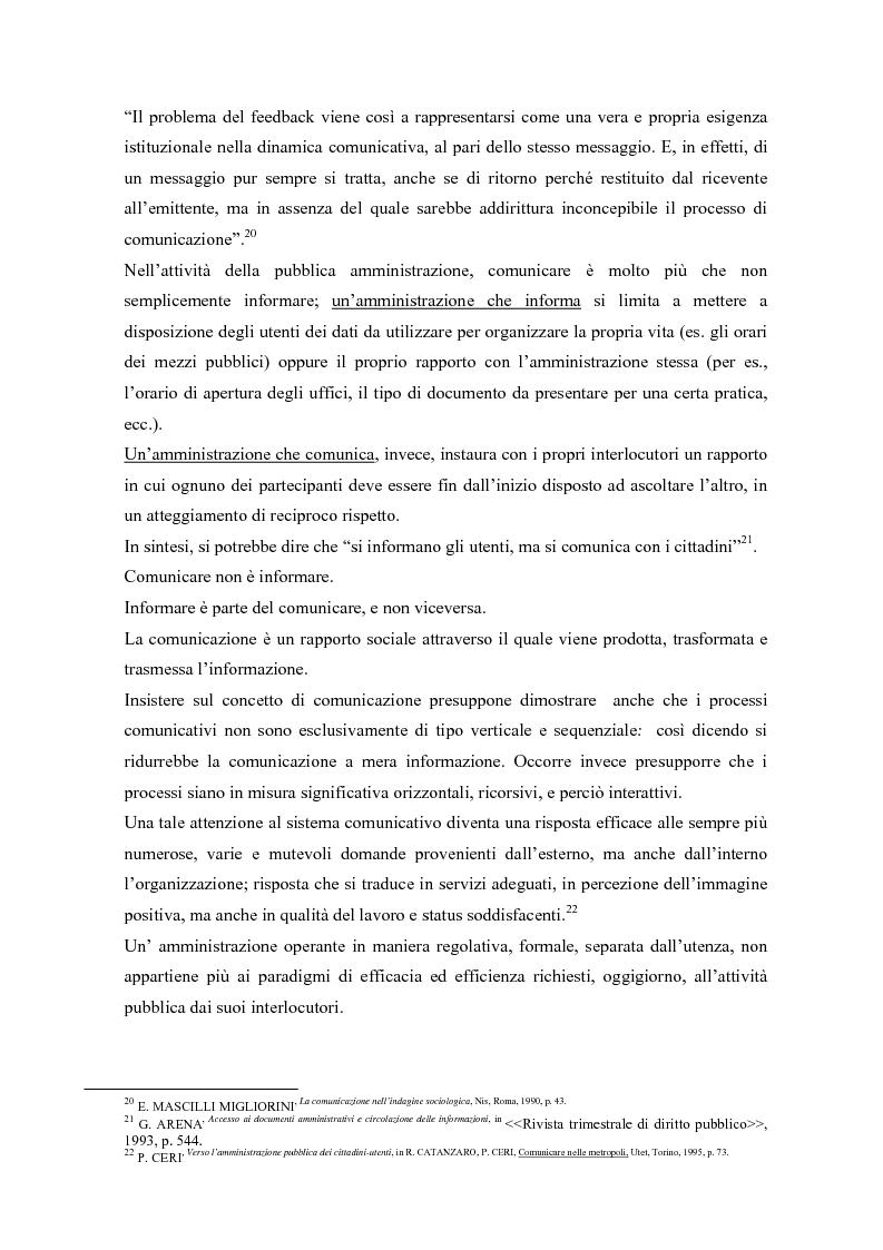 Anteprima della tesi: Urp: un ponte in costruzione tra cittadino ed ente pubblico. Il caso di Cento (Fe), Pagina 10