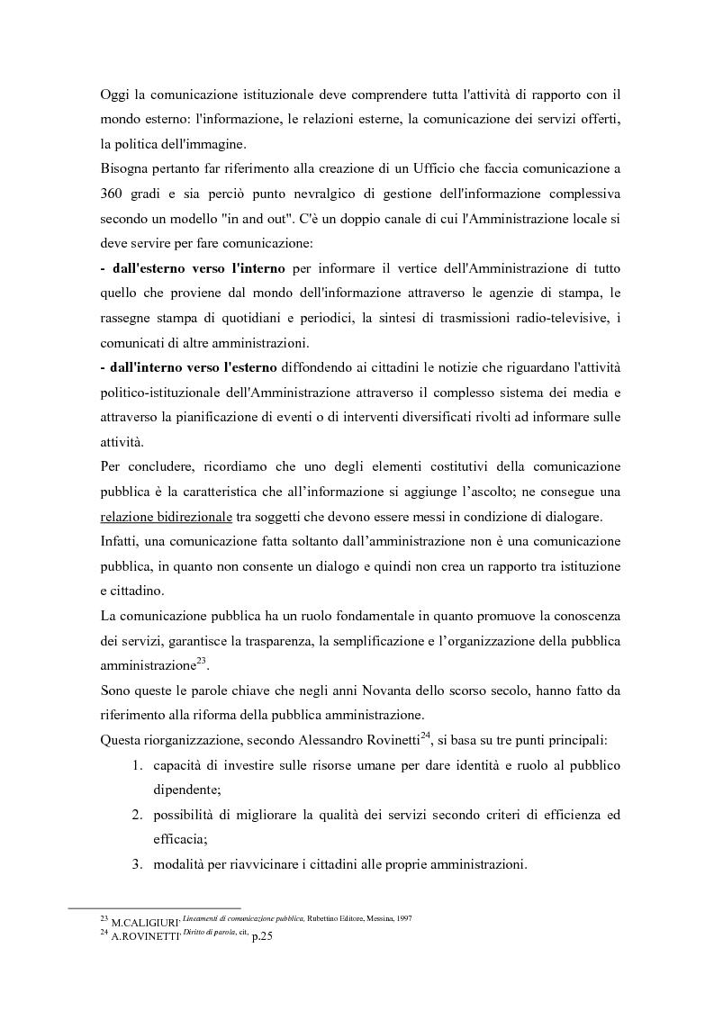 Anteprima della tesi: Urp: un ponte in costruzione tra cittadino ed ente pubblico. Il caso di Cento (Fe), Pagina 11