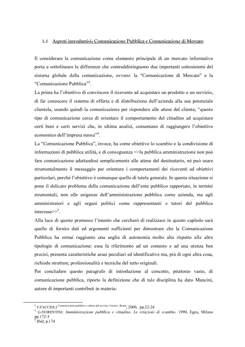 Anteprima della tesi: Urp: un ponte in costruzione tra cittadino ed ente pubblico. Il caso di Cento (Fe), Pagina 4