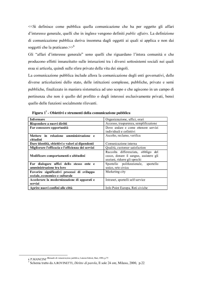 Anteprima della tesi: Urp: un ponte in costruzione tra cittadino ed ente pubblico. Il caso di Cento (Fe), Pagina 5