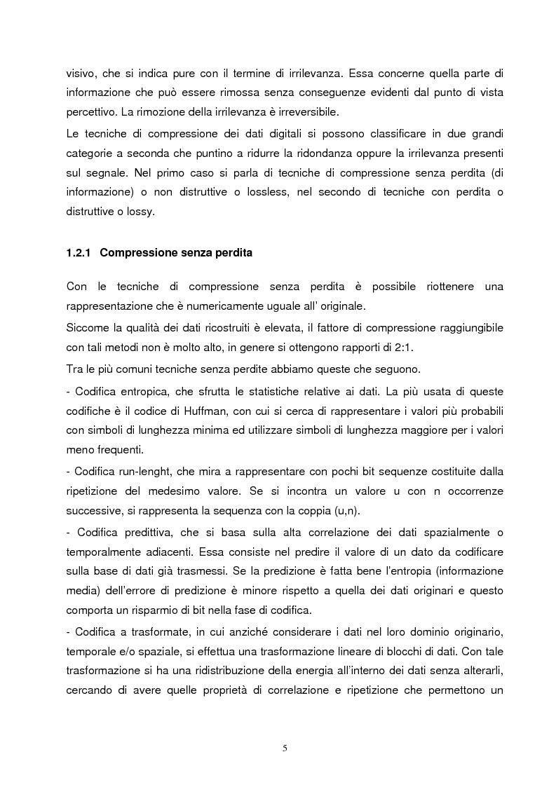 Anteprima della tesi: Metodi di compressione Jpeg e Jpeg2000 per immagini fisse, Pagina 2