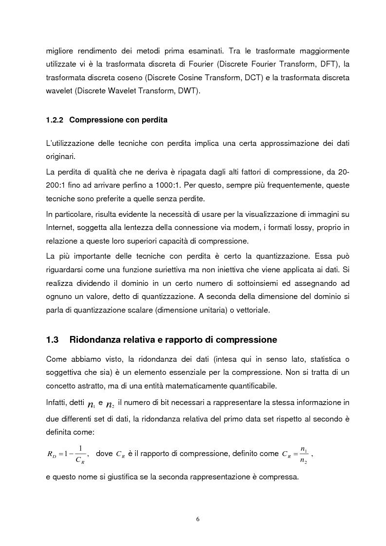Anteprima della tesi: Metodi di compressione Jpeg e Jpeg2000 per immagini fisse, Pagina 3