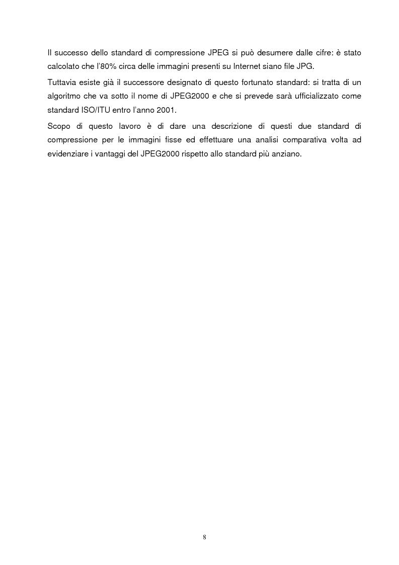 Anteprima della tesi: Metodi di compressione Jpeg e Jpeg2000 per immagini fisse, Pagina 5