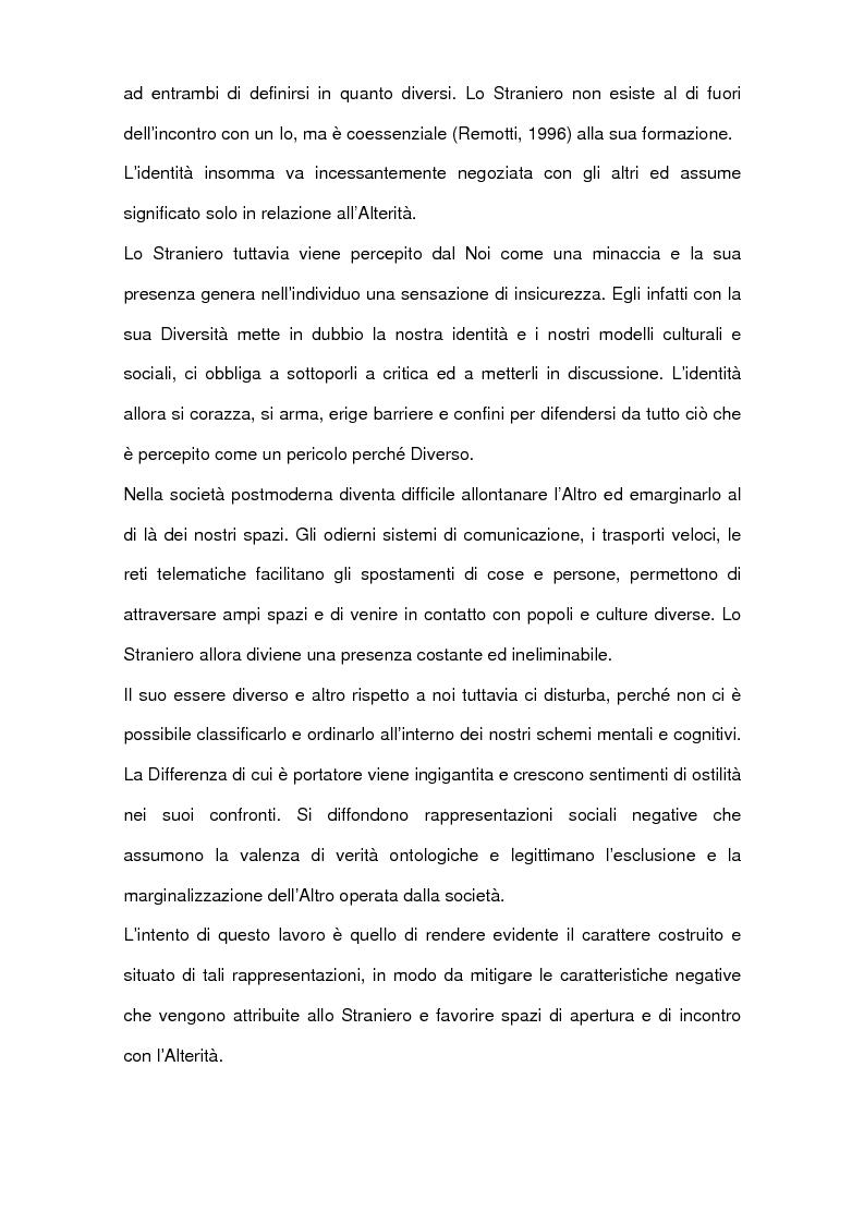 Anteprima della tesi: L'interazione quotidiana con l'altro. Le donne migranti e il lavoro di cura, Pagina 2