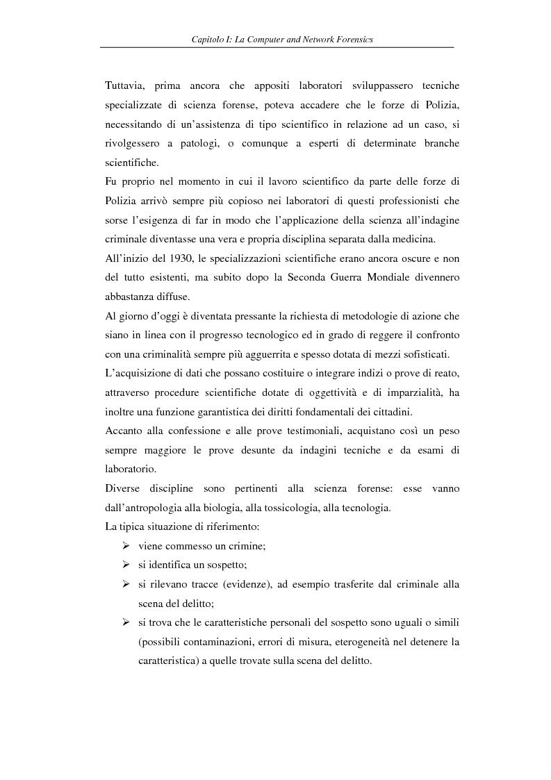 Anteprima della tesi: Problematiche giuridiche correlate alla Computer & Network Forensics, Pagina 10