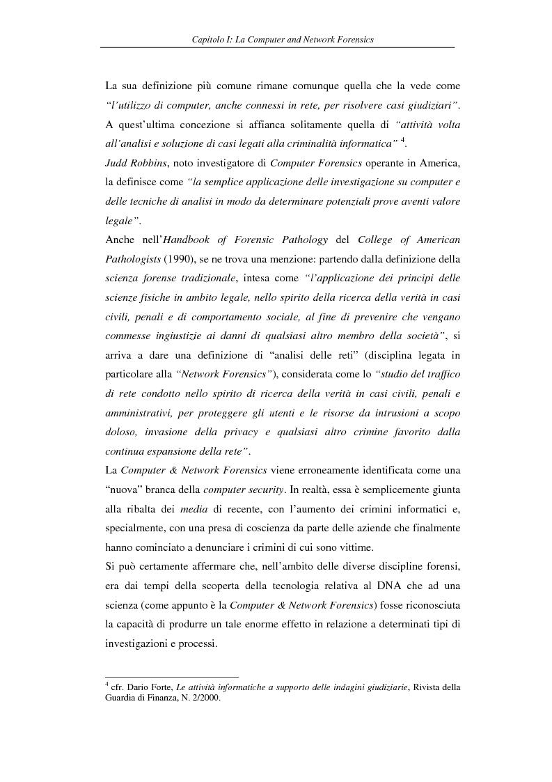 Anteprima della tesi: Problematiche giuridiche correlate alla Computer & Network Forensics, Pagina 12
