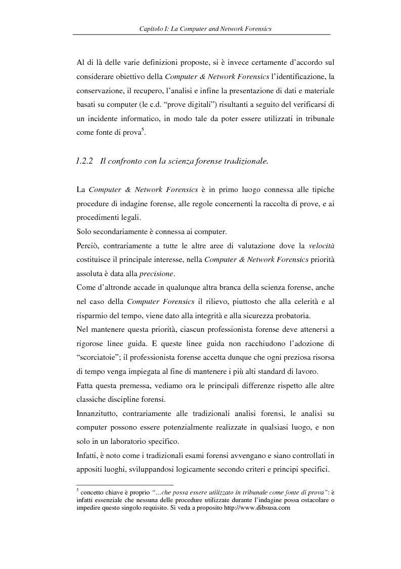Anteprima della tesi: Problematiche giuridiche correlate alla Computer & Network Forensics, Pagina 13