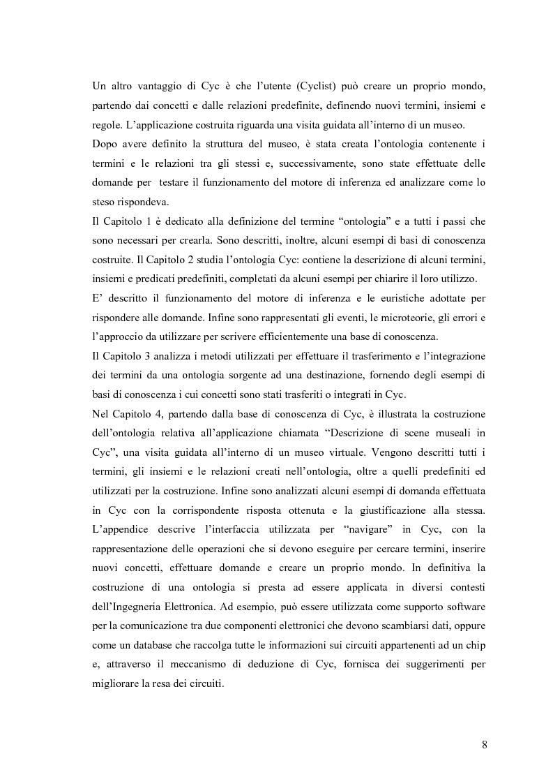 Anteprima della tesi: Descrizione di scene museali in Cyc, Pagina 2