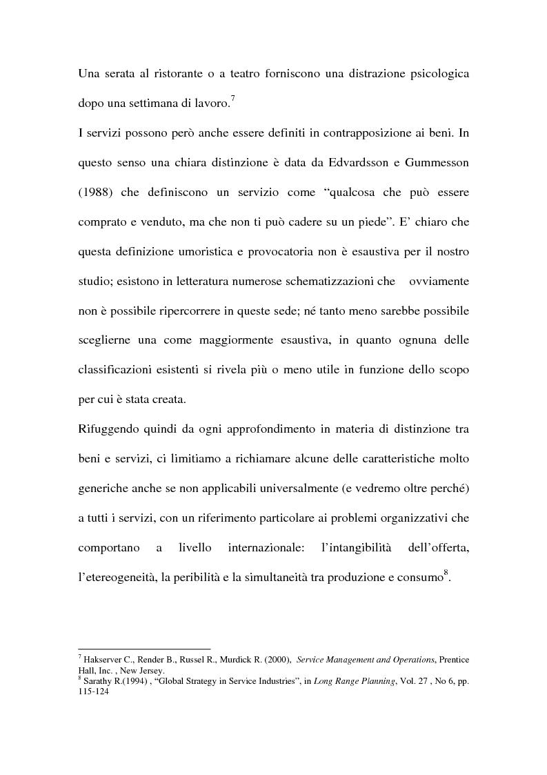 Anteprima della tesi: L'internazionalizzazione delle imprese di servizi, Pagina 10